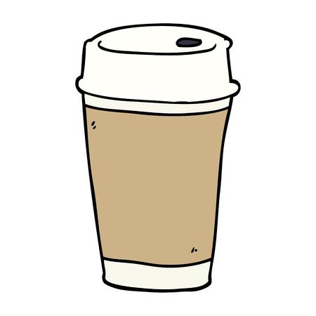 tasse à café de dessin animé doodle Vecteurs