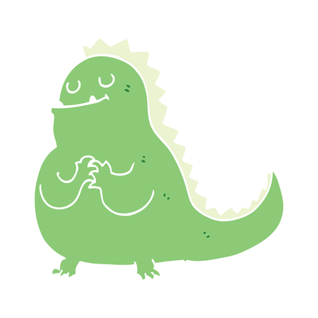 flat color style cartoon dinosaur