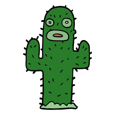 cartoon doodle cactus