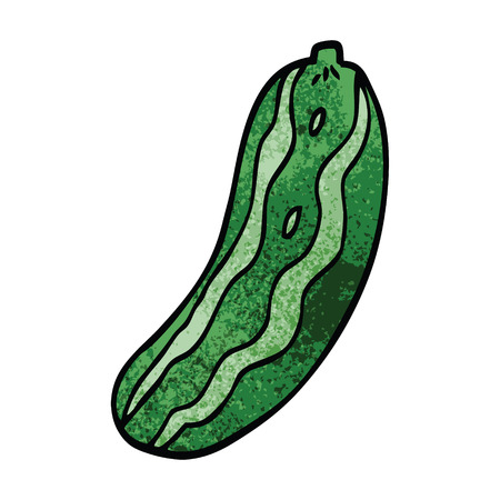 cartoon doodle cucumber plant Иллюстрация