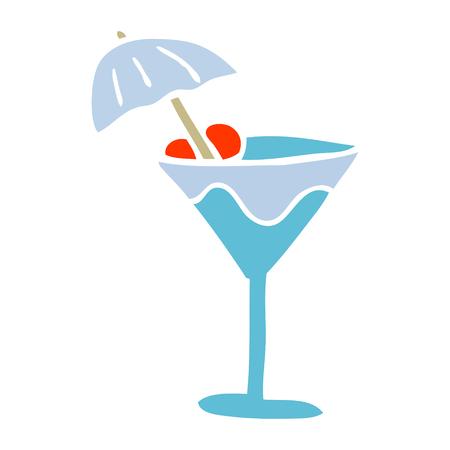 cartoon doodle martini drink