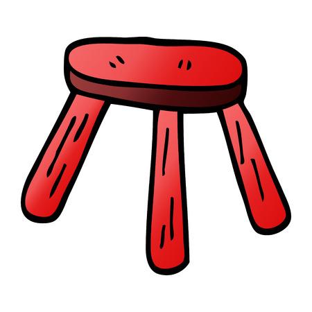 cartoon doodle low stool Ilustrace