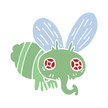 cartoon doodle of a fly