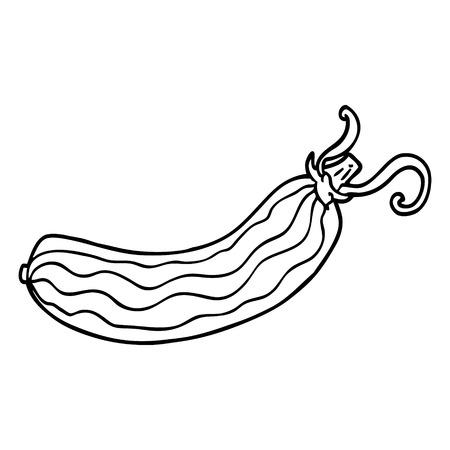 concombre de dessin au trait Vecteurs