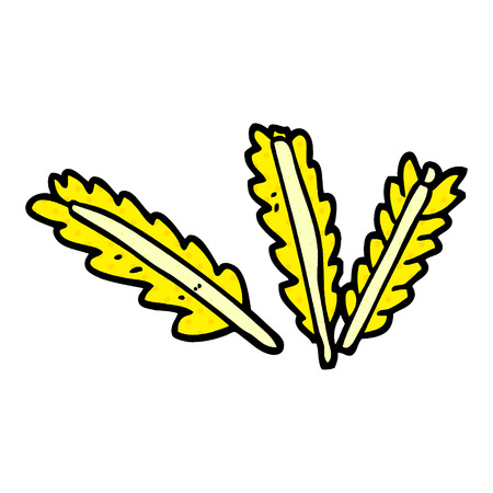 cartoon doodle ears of corn Illustration