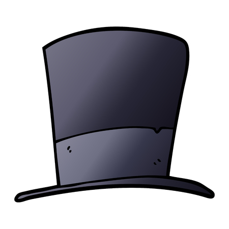 cartoon doodle top hat