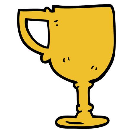cartoon doodle gold cup Ilustração