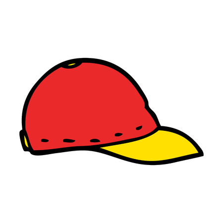 cartoon doodle baseball cap