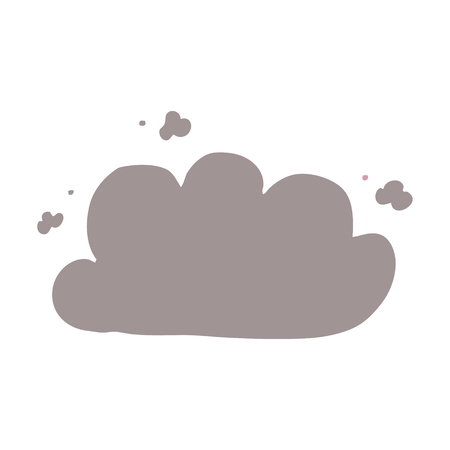 cartoon doodle storm cloud