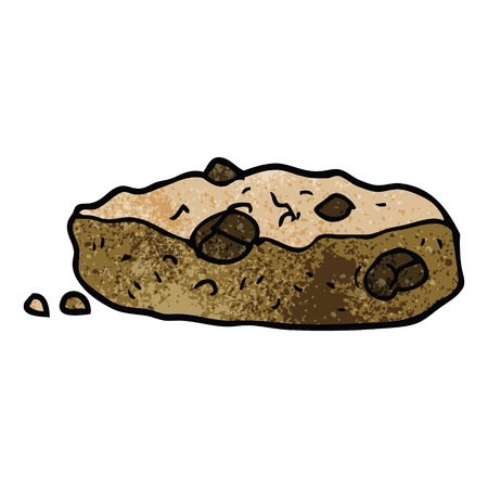 cartoon doodle choclate chip cookie
