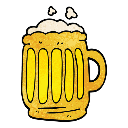cartoon doodle tankard of beer Фото со стока - 110854566