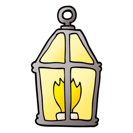 cartoon doodle old lantern