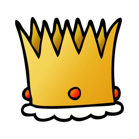 cartoon doodle royal crown Stock Illustratie