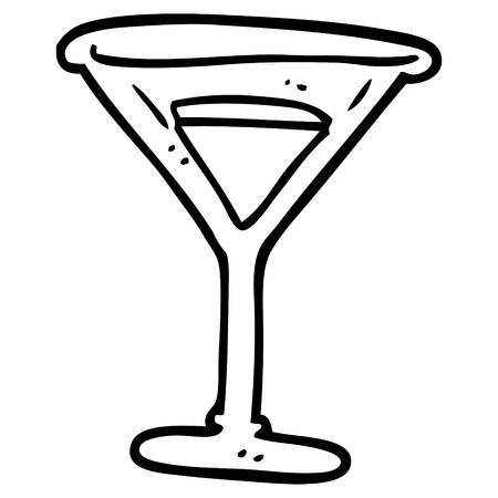 line drawing cartoon martini