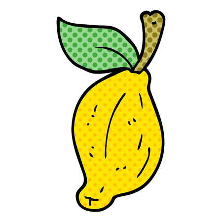 cartoon doodle organic lemon