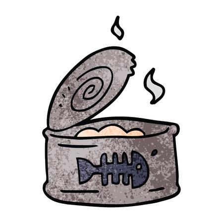 cartoon doodle tin of tuna 向量圖像