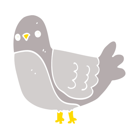 flat color style cartoon bird
