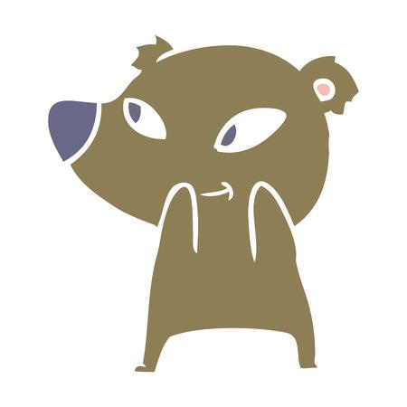 cute flat color style cartoon bear 스톡 콘텐츠 - 110843594
