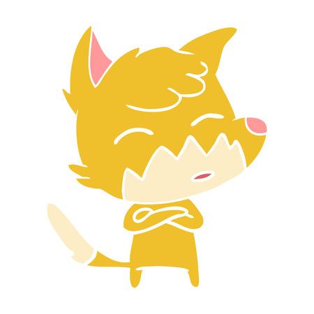 flat color style cartoon fox 스톡 콘텐츠 - 110843495