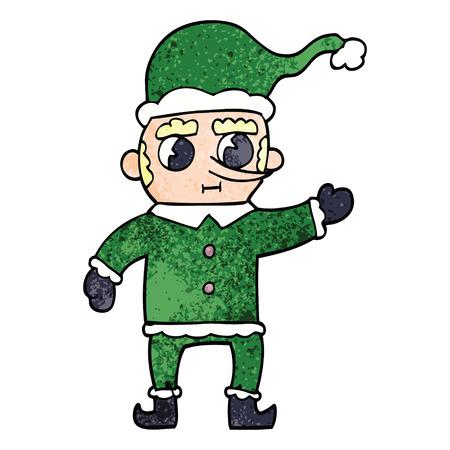 cartoon doodle christmas elf Archivio Fotografico - 110843496