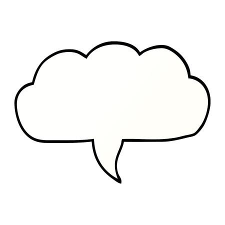 cartoon doodle cloud speech bubble