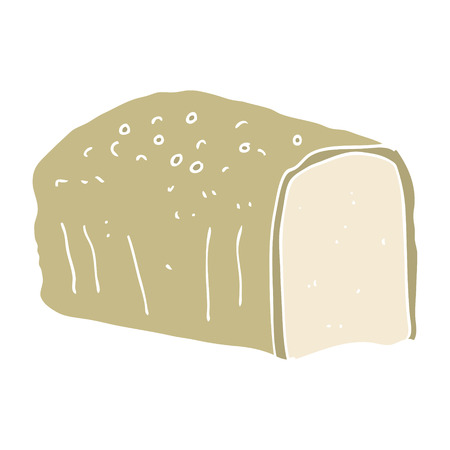 flat color illustration of bread