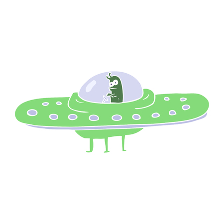 flat color illustration of ufo Stock Vector - 110854661