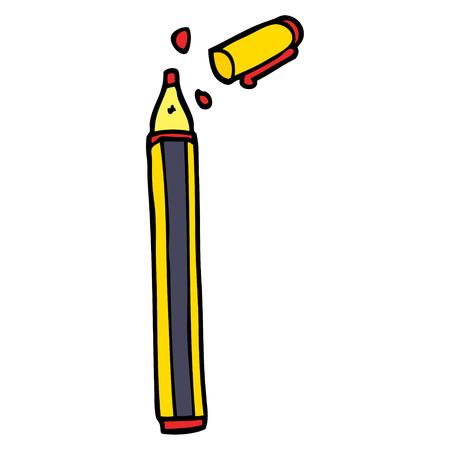 cartoon doodle office pen 向量圖像