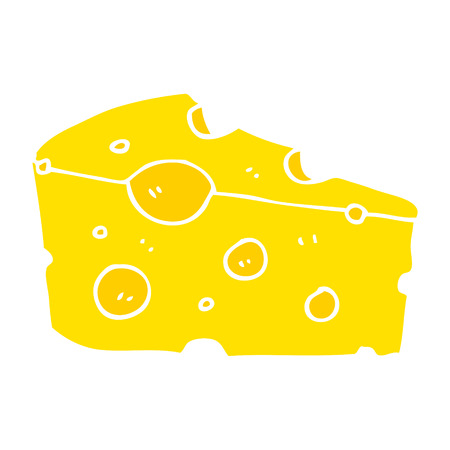 flat color illustration of cheese