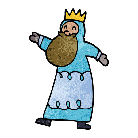 cartoon doodle wise king