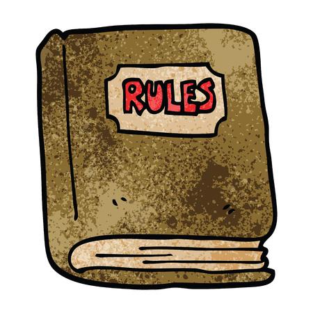 libro de reglas de doodle de dibujos animados