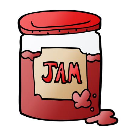 cartoon doodle jam pot Illustration