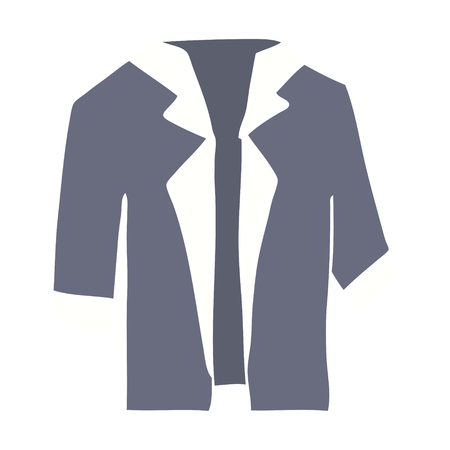 flat color style cartoon suit shirt 일러스트