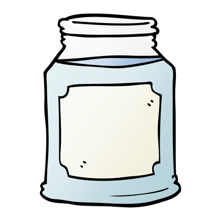 cartoon doodle candle in jar