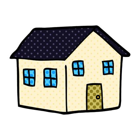 cartoon doodle house Standard-Bild - 110856816