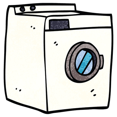 cartoon doodle washing machine Illustration