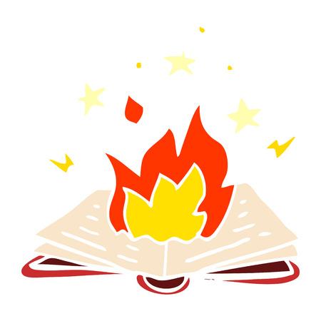cartoon doodle spell book