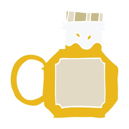 cartoon doodle honey Illustration