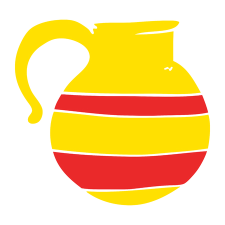 cartoon doodle striped jug