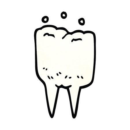 cartoon doodle tooth
