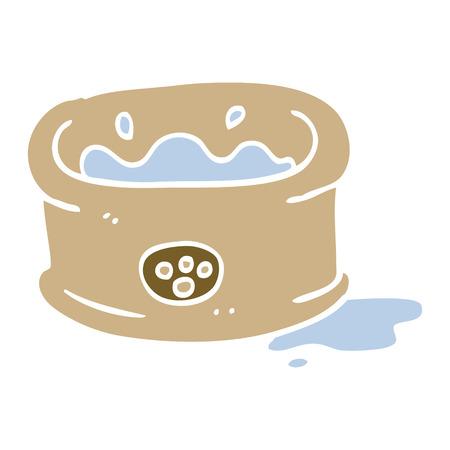 cartoon doodle pet bowl Banque d'images - 110858155