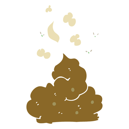 flat color illustration of gross poop