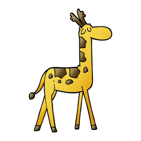 cartoon doodle funny giraffe