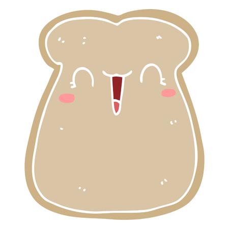 cute flat color style cartoon slice of toast Standard-Bild - 110858430