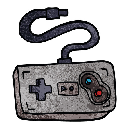 cartoon doodle game controller