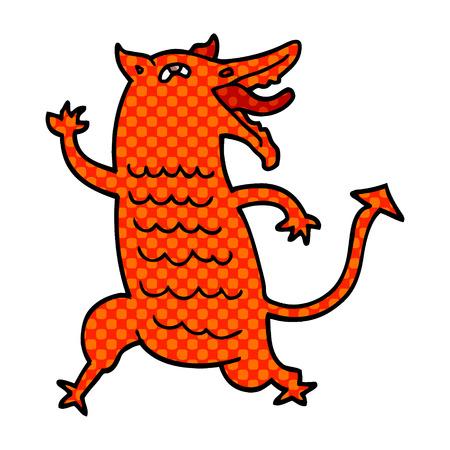 cartoon doodle medieval demon Reklamní fotografie - 110894366