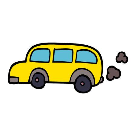 cartoon doodle school bus