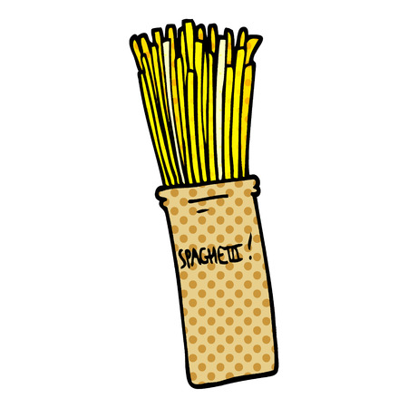 cartoon doodle  jar of spaghetti