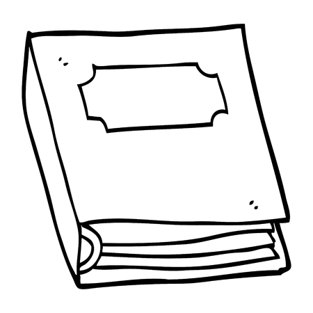 line drawing cartoon closed book