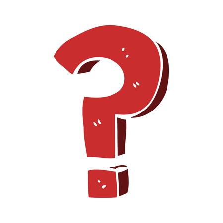 cartoon doodle question mark Stockfoto - 110894384